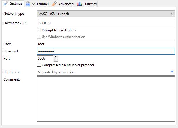 heidisql settings screen