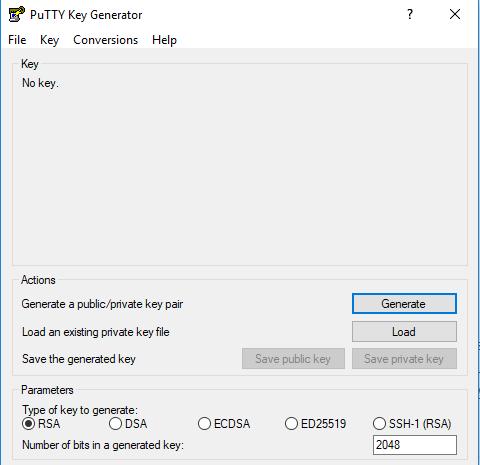 Putty Key Gen Screen