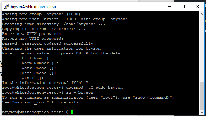 ubuntu su login