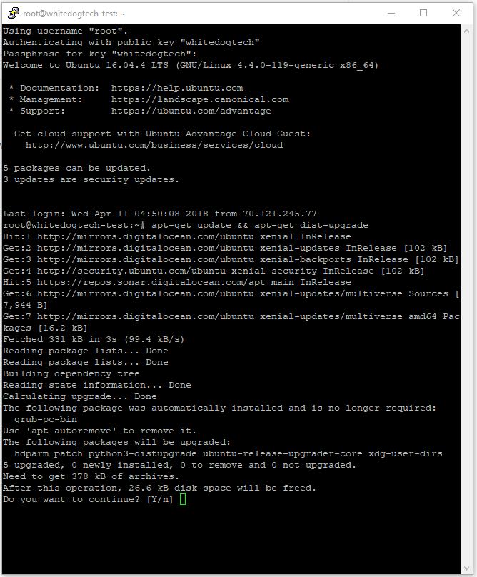 ubuntu updates screen