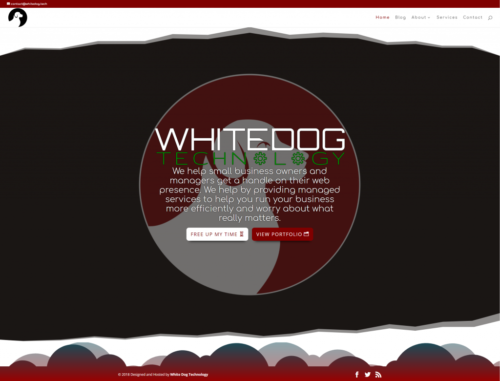 white dog tech main website page