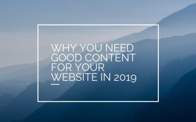 What is content for your website in 2019